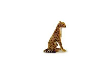 "Sitting Cheetah With Sound - 13"" $37.00"