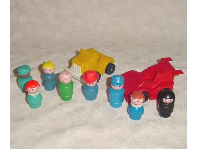 Fisher Price Little People Lot Race Car